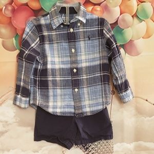 """Ralph lauren"" boy 2pc set"